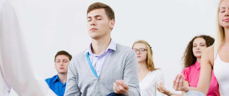 mindfulness clinic retreat renewal refresh students meditating