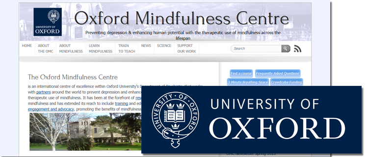 oxford university mindfulness online resources